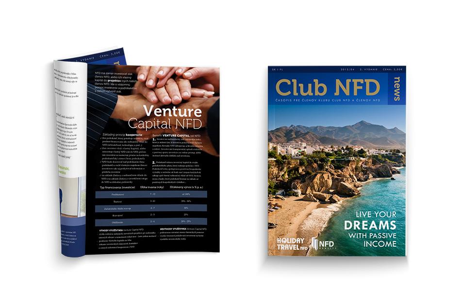 Grafické spracovanie magazínu Club NFD News. Navrhol Marek Hrebík | www.marekhrebik.sk