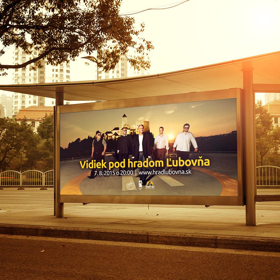 Grafický návrh billboardu na podujatie Vidiek pod hradom Ľubovňa. Navrhol Marek Hrebík | www.marekhrebik.sk