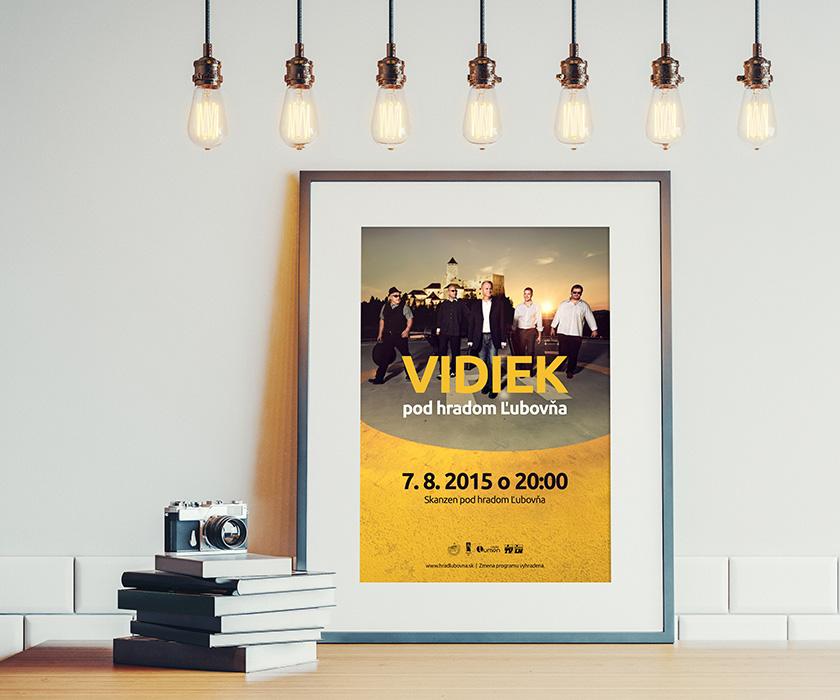 Grafický návrh plagátu na podujatie Vidiek pod hradom Ľubovňa. Navrhol Marek Hrebík | www.marekhrebik.sk